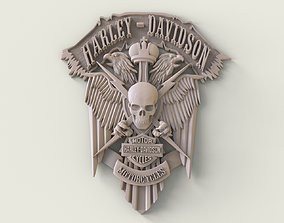 bas-relief Harley-Davidson 3D print model