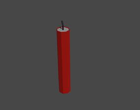 Dynamite 3D model low-poly