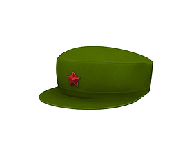 Chinese Army Cap 3D asset