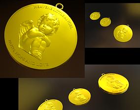 3D print model My Little Angel Pendant earing set