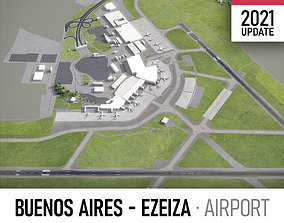 3D asset Buenos Aires Ezeiza Airport