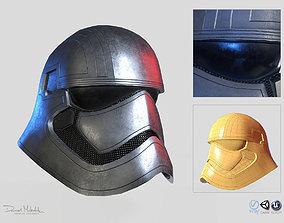 Phasma Helmet PBR Low Poly 3D model