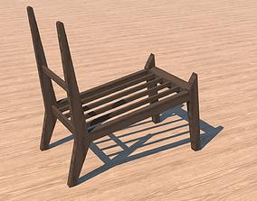 Wooden Furniture - Book holder 3D model