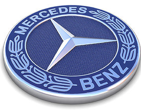 low-poly Realistic Mercedes-Benz-Logo 3D Model