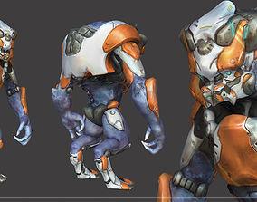 3D Alien Mech Heavy