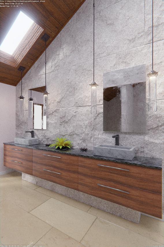 Photorealistic Bathroom testscene