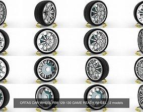 ORTAS CAR WHEEL RIM 129-130 GAME READY WHEEL 3D model