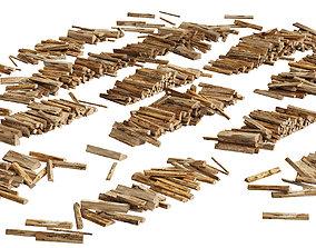 3D 040 Firewood Logs 03 Scattered Firewood logs