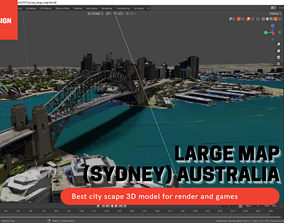 3D model Sydney Large map with Texture