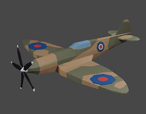 3D asset Spitfire