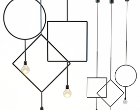 Circle Northern Lighting 3D model