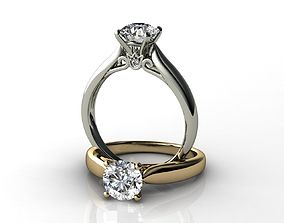 1Cts Diamond Engagement Ring 3D print model