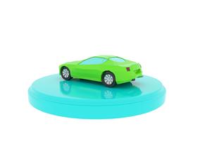3D model Cartoon Low Poly Car