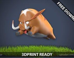 3D print model Stylized boar