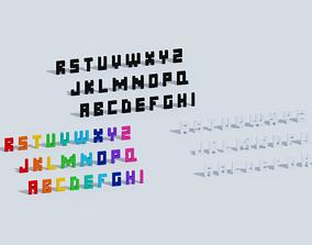 3D asset Voxel Letters
