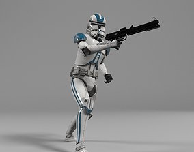 Clone Trooper Star Wars rigged 3D model