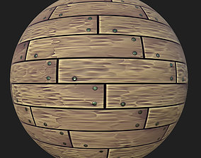 3D model Stylized Wood Planks