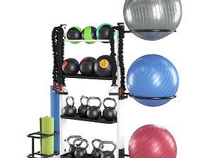 3D model Fitness accessories rack
