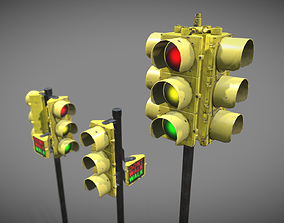 3D model Traffic Lights USA