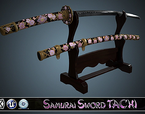 Samurai Sword TACHI 3D model realtime