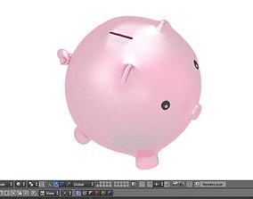 piggy bank 3D model low-poly