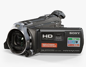 Sony HDR-PJ810 camcorder 3D model animated