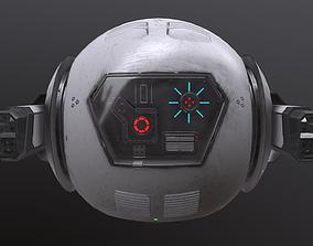 3D model realtime scifi drone
