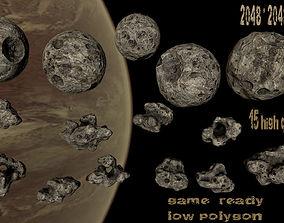 Asteroid set 03 3D model