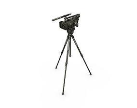 3D model Camera on the tripod
