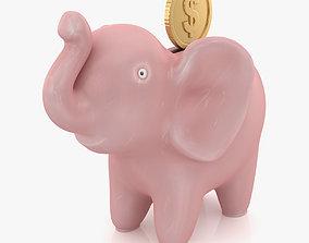 Elephant Bank 3D asset
