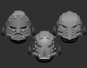 Adeptus astartes alternative heads set 3D print