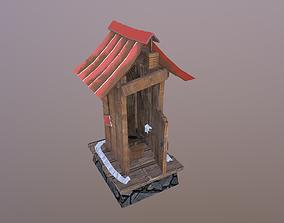 3D model Toilet Hut