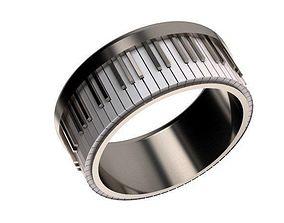 fashion-challenge 3D printable model Piano ring