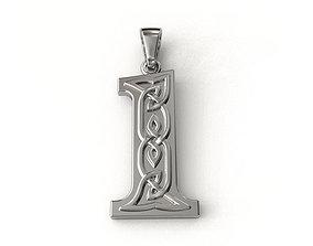 3D printable model Celtic pendant number one