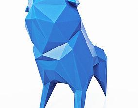 Pug Dog Low Poly 3D asset low-poly