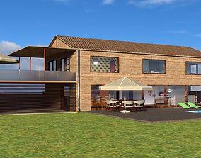 3D Modern Wood House