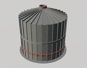3D asset Concrete Tower Silo