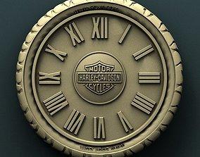 Harley Davidson wall clock 3d stl model for 1