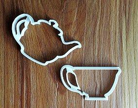 3D printable model Tea Set Cookie Cutter