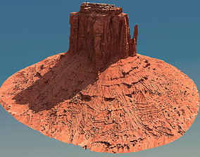 Scanned Canyon Cliff - D 3D model