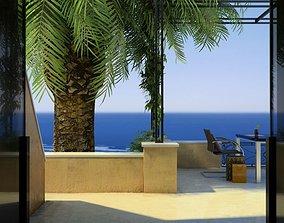 Modern Terrace Scene 3D model