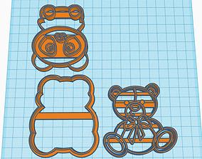 2 cookies de Oso 3D print model