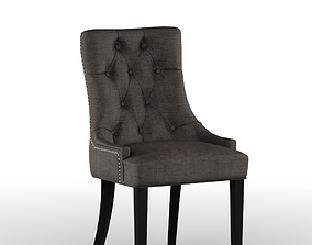 3D classic Brown Dining Chair