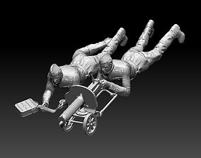 ussr soldiers and Maxim machine gun 3D printable model