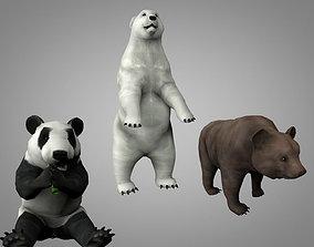 Bears pack 3D model animated