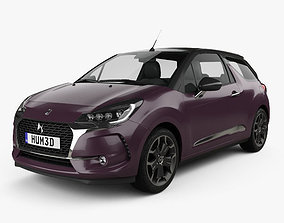 3D model DS3 Prestige Cabriolet 2016