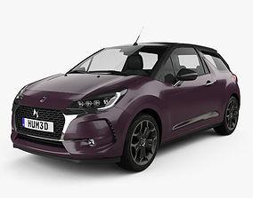 3D model DS3 Prestige Cabriolet 2016