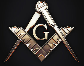 3D model Symbol of Masons Low Poly 2