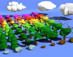 3D asset Low Poly Nature Pack by RgsDev