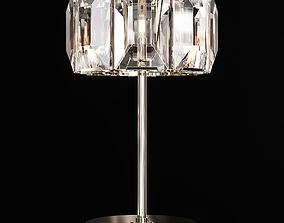 Restoration Hardware HARLOW CRYSTAL TABLE LAMP Nickel 3D